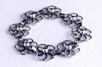 flowersilverbracelet