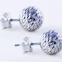 Silver-ball-earrings