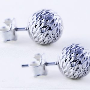 Silver-ball-earrings