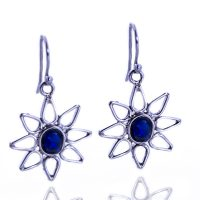 Flower opal earrings