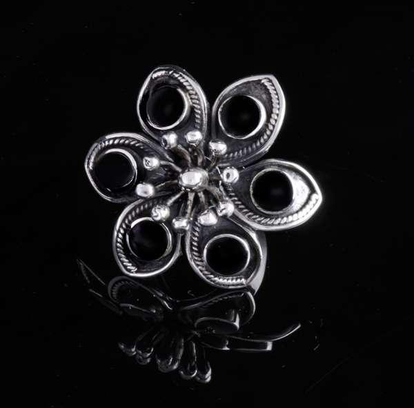 Obsidiam-Silver- Ring