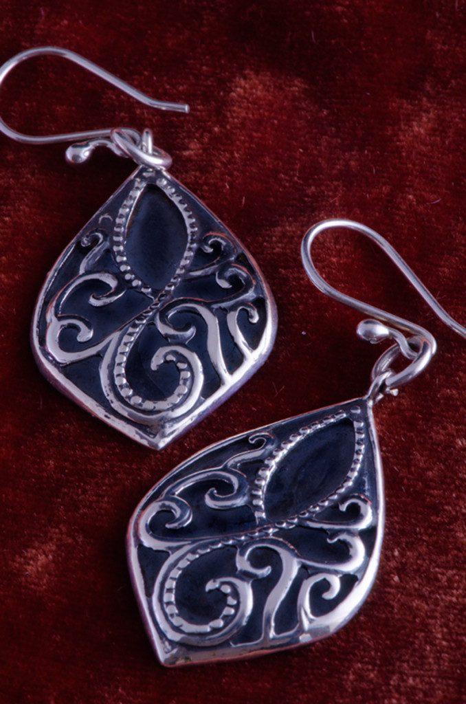 Hook-silver-earrings